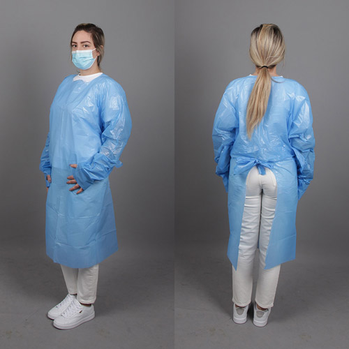 CPE protective gowns