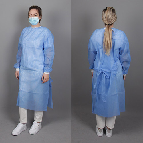 Uncoated disposable gowns